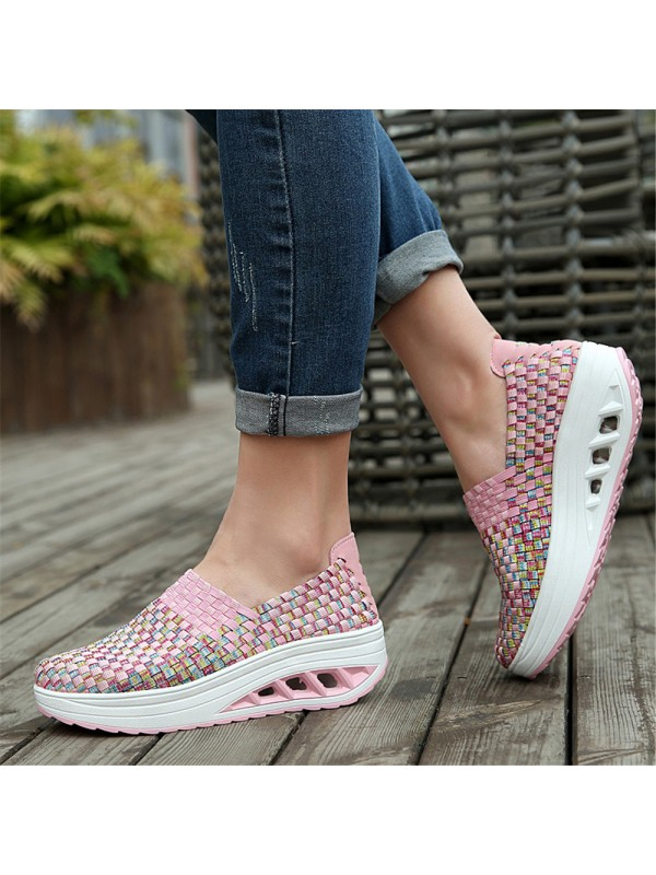 Breathable Thick Bottom Non-slip Light Braided Shoes