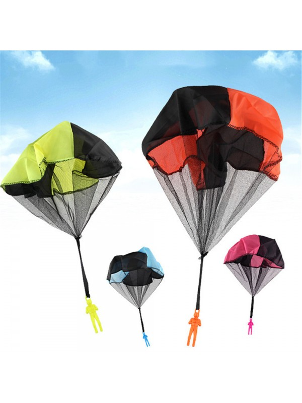 Kids Hand Throwing Parachute Soldier Toy