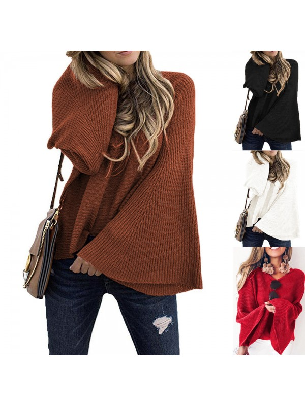 Women's Loose Knitted Sweater Tops