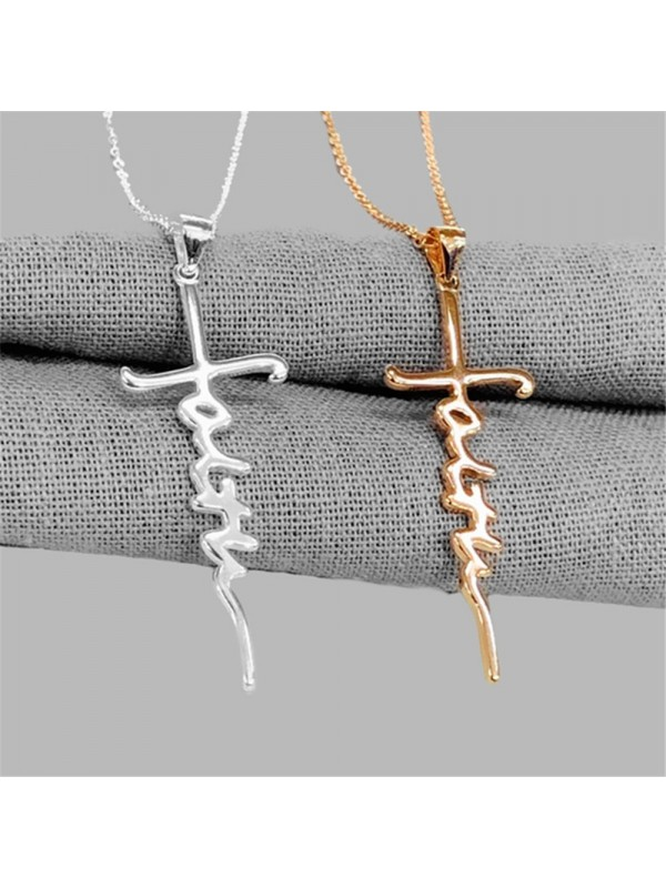 Fashionable Personality Letter Cross Necklace