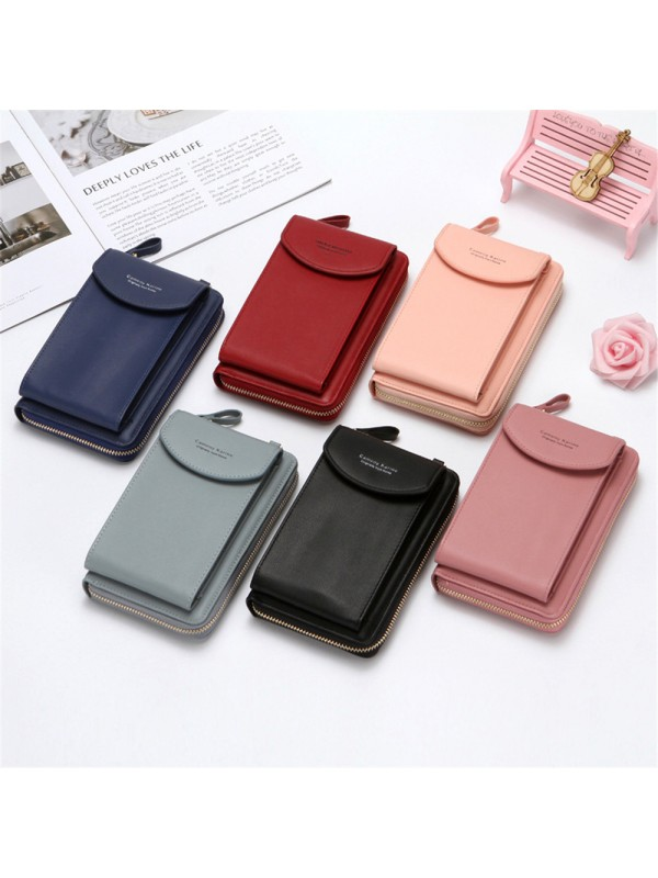Leather Cross Body Bag Phone Pouch Handbags for Women