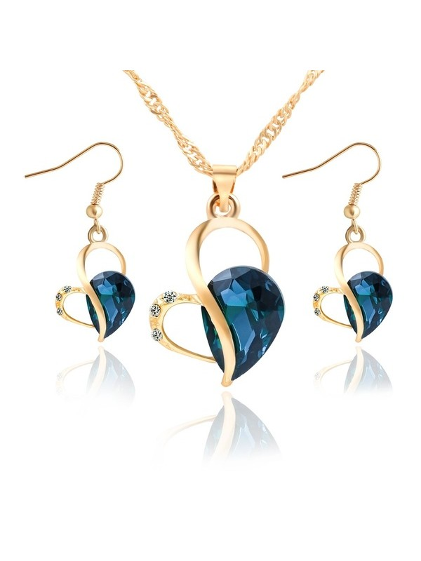 Crystal Necklace Earring Jewelry Set