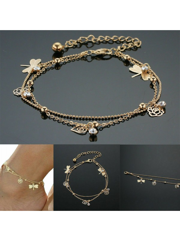 Fashion Anklet Gold Bead Ankle Chain