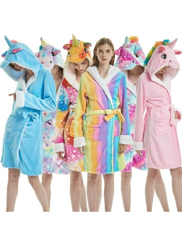 Unicorn Flannel Dressing Gowns