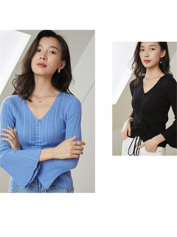 Womens Knitted Slim Sweater Jumper