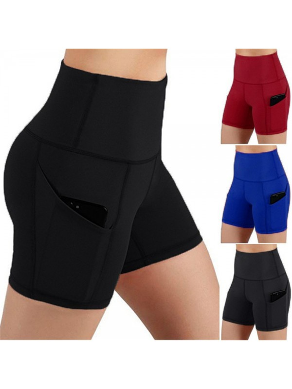 Womens Running Yoga Workout Shorts with Pocket
