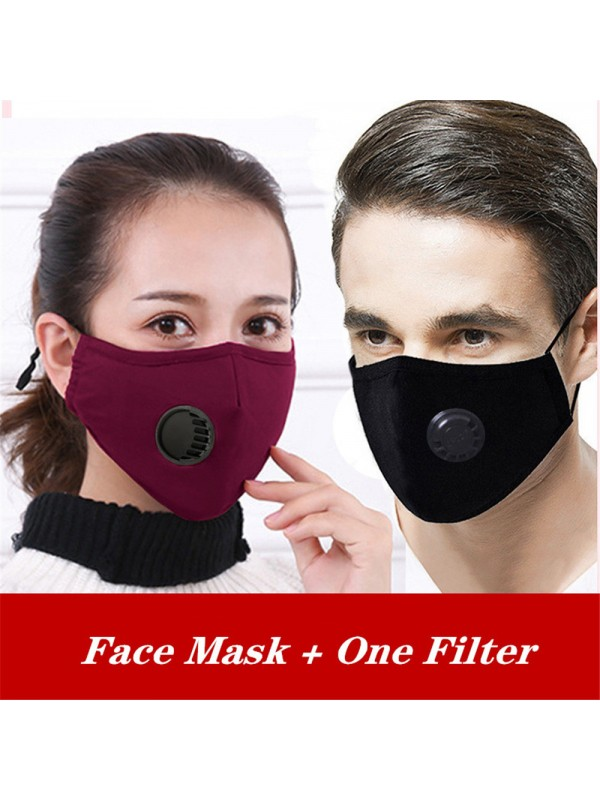 Lover's Cotton Face Coverings with Valve and 11 Filters